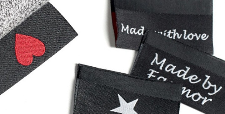 Labels for clothes midfolded