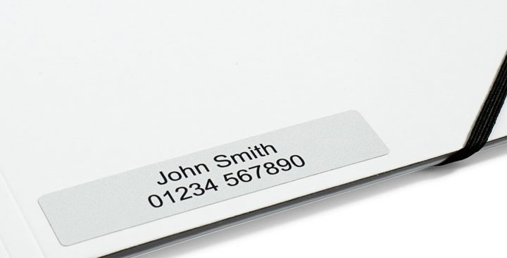Name stickers 90x20mm.