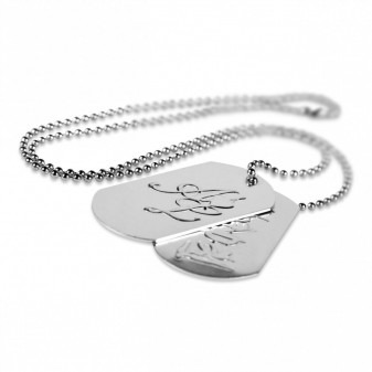 Dog tags with metal chain