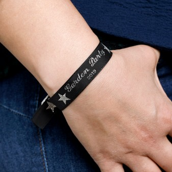 Woven wristbands - be a VIP at home